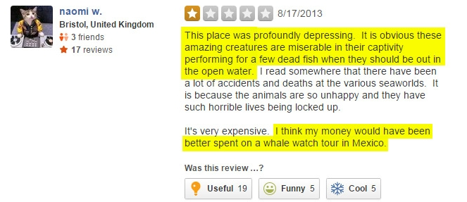 9 YELP Reviews SeaWorld Doesn't Want You to See - SeaWorld