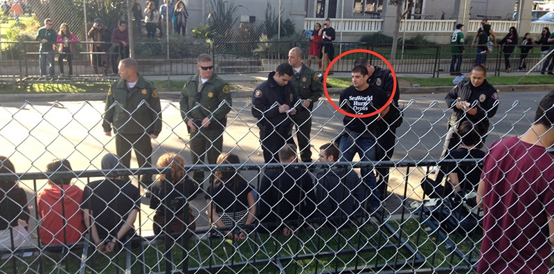 """Thomas Jones"" arrested at protest"
