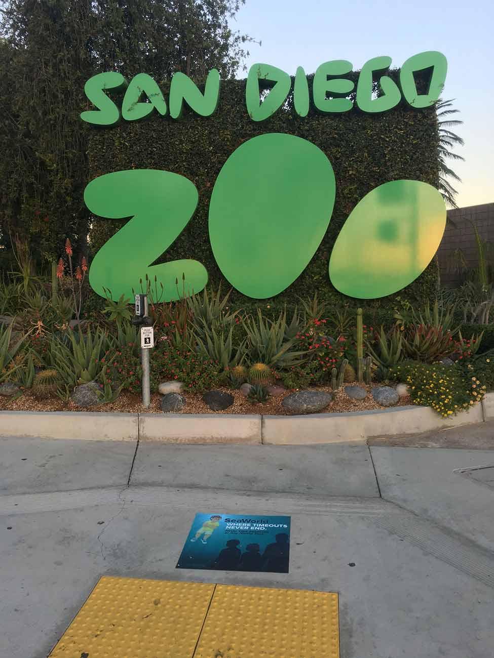 PETA Time Out anti-SeaWorld sidewalk vinyls