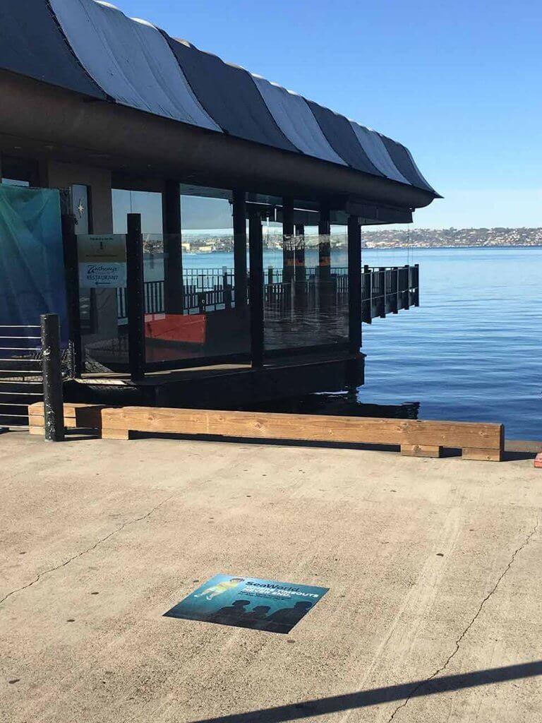 PETA Time Out sidewalk decals target SeaWorld in San Diego